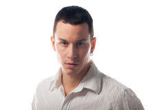 Portrait of handsome young man stock images