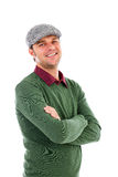 Portrait of a handsome young man with arms folded Royalty Free Stock Photos