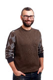 Portrait of handsome young man with beard Royalty Free Stock Images