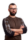Portrait of handsome young man with beard Royalty Free Stock Image