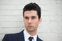 Portrait of a handsome young man in business suit Stock Photo