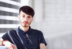 Portrait of handsome young man Stock Image