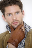 Portrait of handsome young man in jacket Royalty Free Stock Photo