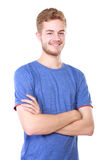 Portrait of a handsome young man smiling Royalty Free Stock Photos