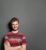 Portrait of a handsome young man thingking Royalty Free Stock Photography