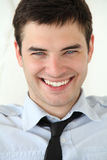Portrait of Handsome young men with smile. Very beautiful smile on the face. Portrait of handsome young men with blue eyes and white teeth Royalty Free Stock Photography