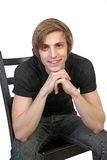 Portrait of young smiling caucasian man Royalty Free Stock Photo