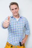 Portrait of a handyman gesturing thumbs up Royalty Free Stock Image