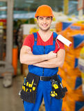 Portrait of  handyman at warehouse Stock Photography