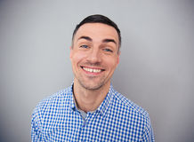 Portrait of a happiness man looking at camera Royalty Free Stock Images