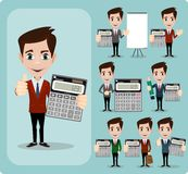 Portrait Of Happy Accountant set Royalty Free Stock Photos