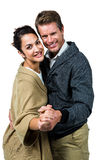 Portrait of happy affectionate couple dancing Royalty Free Stock Photos