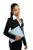 Portrait of happy African American business woman Royalty Free Stock Photos