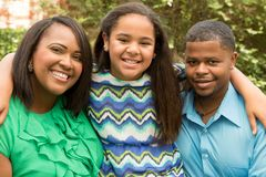 Happy African American Family. Royalty Free Stock Photo