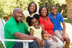 Happy African American Family. stock photo