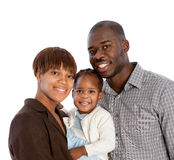 Portrait of Happy African American Family Isolated Royalty Free Stock Photos