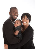 Portrait of Happy African American Family Isolated Stock Photography