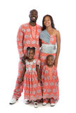 Portrait of Happy African American Family Wearing Traditional Co Royalty Free Stock Images