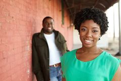 Portrait of an African American loving couple. Royalty Free Stock Photos