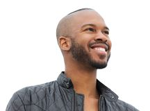Portrait of a happy african american man smiling Stock Photography
