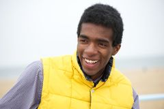 Portrait of a happy african american man smiling outdoors Royalty Free Stock Images