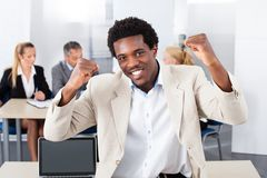 Portrait Of Happy African Businessman Royalty Free Stock Photo