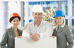Portrait of happy architects Stock Images