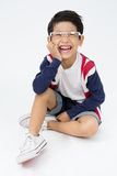 Portrait of happy asian boy ware glasses Royalty Free Stock Image