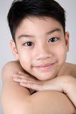 Portrait of Happy asian cute boy Stock Photo