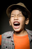 Portrait of Happy asian cute boy with smile face Stock Image