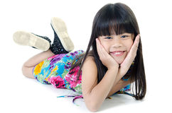 Portrait Of happy asian cute Girl royalty free stock photo