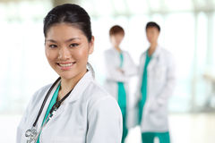 Portrait of a happy Asian Doctor Stock Images