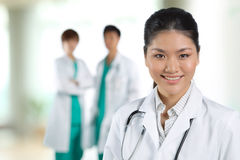 Portrait of a happy Asian Doctor Stock Image
