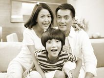 Portrait of a happy asian family Stock Photo