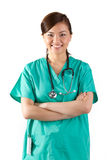 Portrait of a happy Asian Female Doctor. Royalty Free Stock Photography