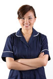 Portrait of a happy Asian Female Nurse Stock Photography