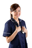 Portrait of a happy Asian Female Nurse Royalty Free Stock Photos