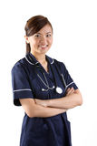 Portrait of a happy Asian Female Nurse Stock Image