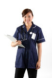 Portrait of a happy Asian Female Nurse Royalty Free Stock Photo