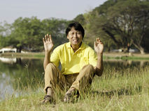 Portrait of a happy asian man Royalty Free Stock Images