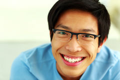 Portrait of a happy asian man Stock Photography