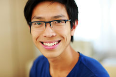Portrait of a happy asian man Royalty Free Stock Photography
