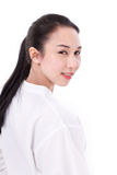 Portrait of happy asian woman with scar Royalty Free Stock Photography