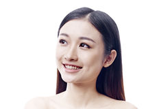Portrait of a happy asian woman Royalty Free Stock Images