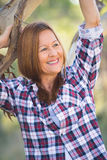 Portrait happy attractive mature country woman Royalty Free Stock Image