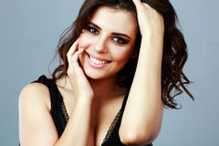 Portrait of a happy attractive woman Stock Images