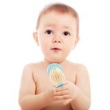 Portrait of happy baby boy closeup Royalty Free Stock Photos