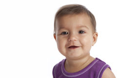 Portrait of a happy baby girl Royalty Free Stock Image