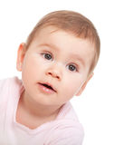 Portrait of a happy baby girl Royalty Free Stock Images