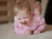 Portrait of a happy baby Royalty Free Stock Image